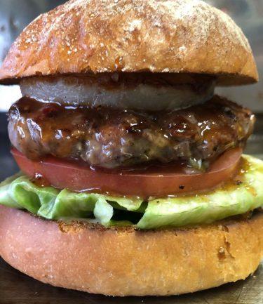 【肉ハサミ屋】ボリューム満点!!テリヤキ系押しのハンバーガー屋さんのテイクアウト