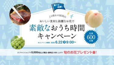 【JA晴れの国おかやま】おいしい食材と綺麗な花で素敵なおうち時間キャンペーン開催中。