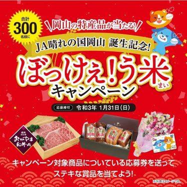 【JA晴れの国おかやま】岡山の特産品が当たる「ぼっけぇ!う米キャンペーン」開催中!