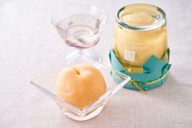 【果樂】岡山の清水白桃の美味しさをそのまま長期間保つ「水熟製法」で、一年中桃本来の味が楽しめる。